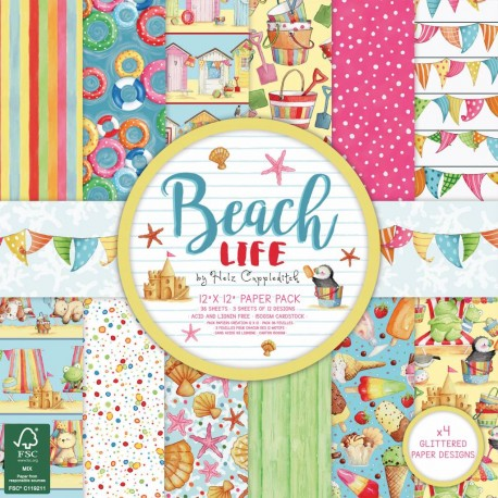 Beach Life  30x30 papeles