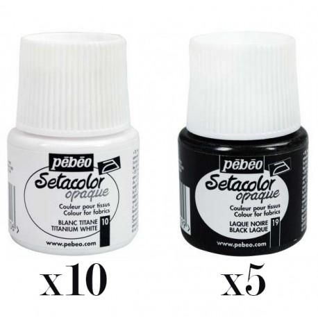 Oferta SetaColor Opaque Blanco/Negro