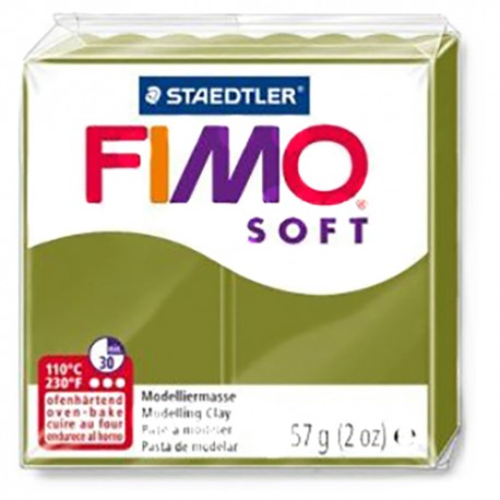 PASTA FIMO SOFT VERDE OLIVA Nº 57