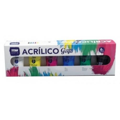 Caja 6 Acrílicos GOYA 70ml