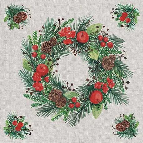 SERVILLETAS- Wreath On Linen