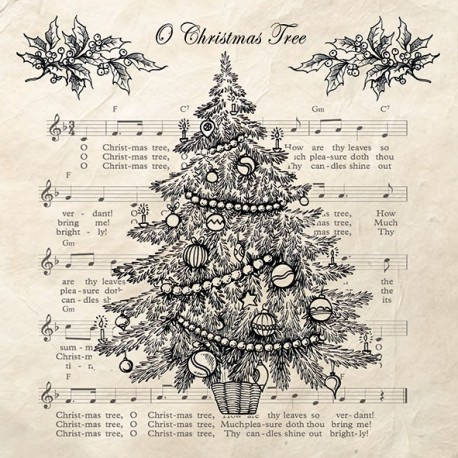 SERVILLETAS- O Christmas Tree Black