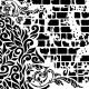 Stencil GRUNGE 45x45cm