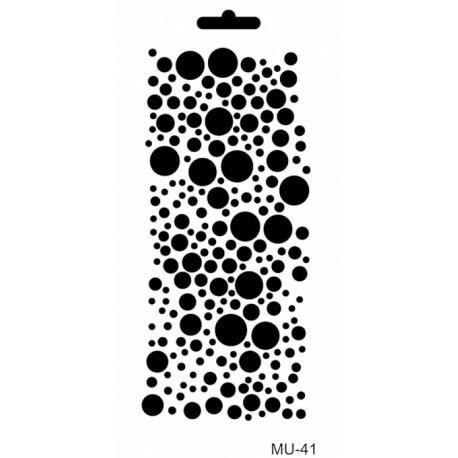 Stencil Mix Media PUNTOS 10x25