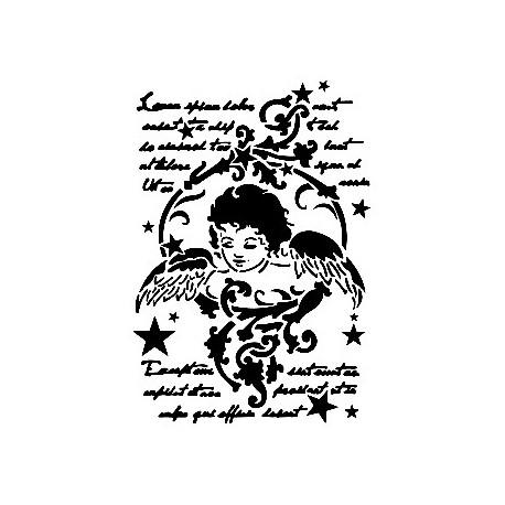 Stencil ÁNGEL NAVIDAD  21x30