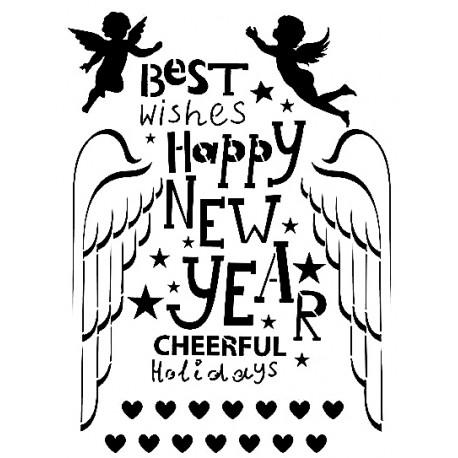 Stencil HAPPY NEW YEAR  21x30