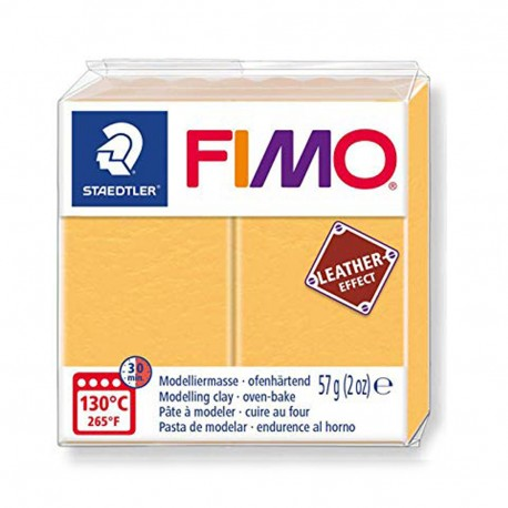 FIMO Effect Leather Amarillo Azafrán