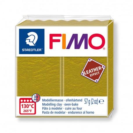 FIMO Effect Leather Oliva