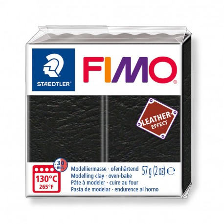 FIMO Effect Leather Negro
