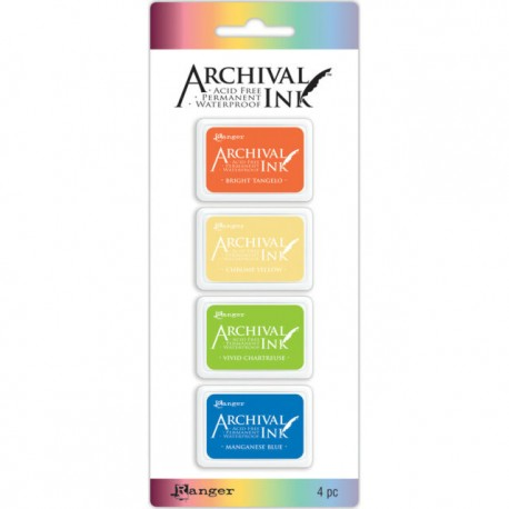 Set 4 Tintas ARCHIVAL INK