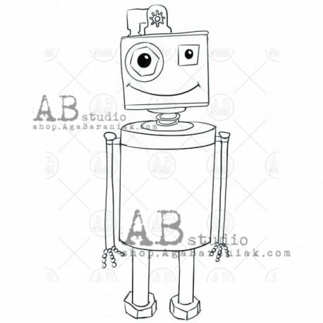 "Sello Caucho AB STUDIO ""little Robot"""