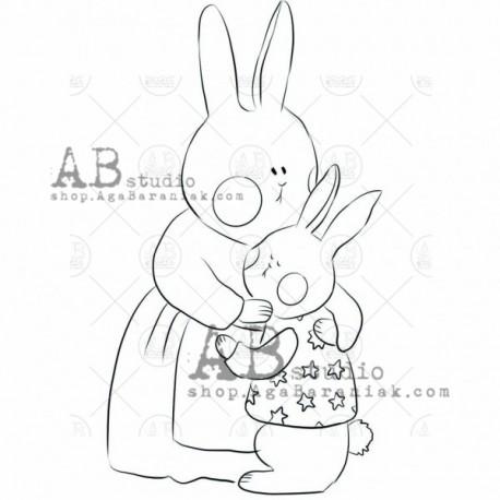 """Sello Caucho AB STUDIO """"Hare"""""""