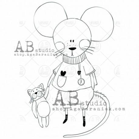 "Sello Caucho AB STUDIO ""little mouse"""