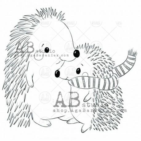 "Sello Caucho AB STUDIO ""hedgehogs"""