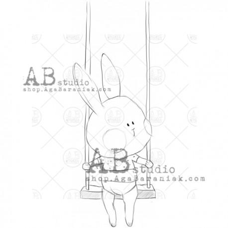 "Sello Caucho AB STUDIO ""sweet bunny"""