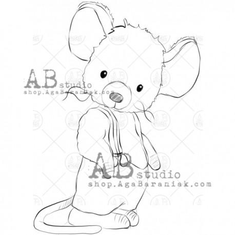 "Sello Caucho AB STUDIO ""Mouse"""