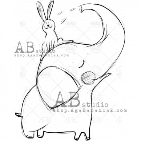 "Sello Caucho AB STUDIO ""elephant"""