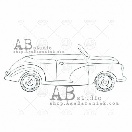"Sello Caucho AB STUDIO ""car"""