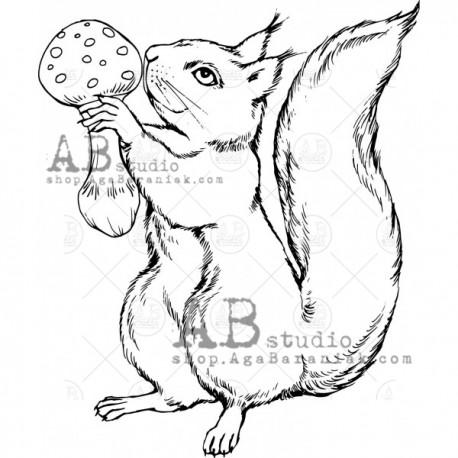 """Sello Caucho AB STUDIO """"squirrel"""""""