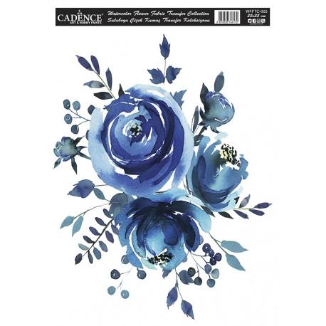 Transfer TELA Watercolor Flower 25x35