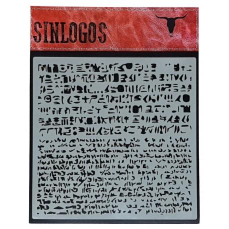 Stencil Escritura 30x30