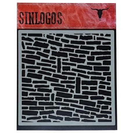 Stencil Ladrillos 30x30