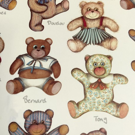 2 Papeles ROSSI Teddy Bears 50x70
