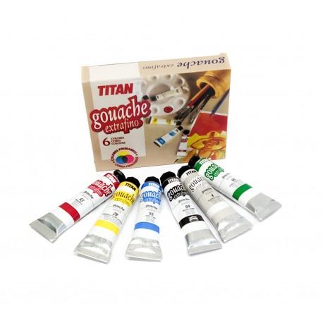 Gouache Estrafino TITAN 6 Colores 20ml