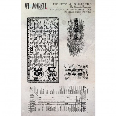 Stamp Tickets & Numbers 49&MARKET