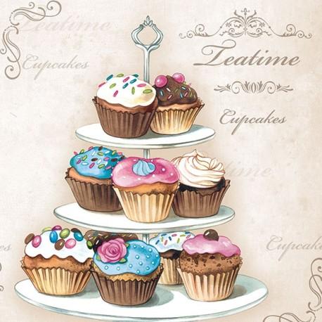 SERVILLETAS- Cupcakes on Etagere