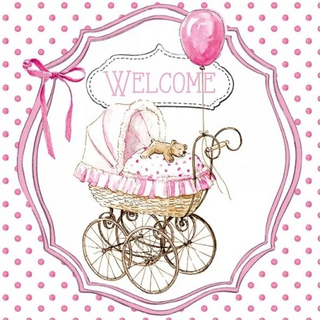 SERVILLETAS- Welcome Pink