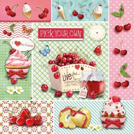 SERVILLETAS- Red Cherries
