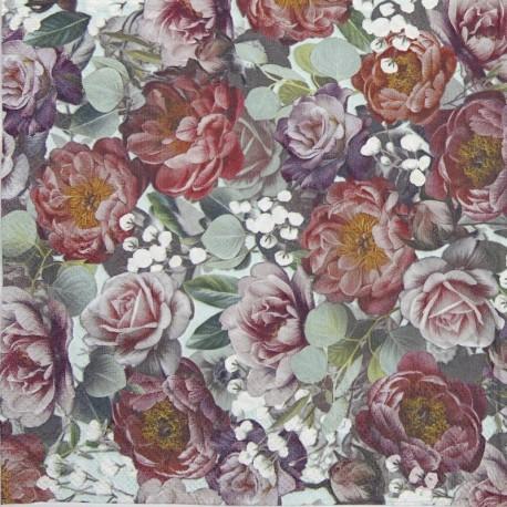 SERVILLETAS- Vintage Flowers Green