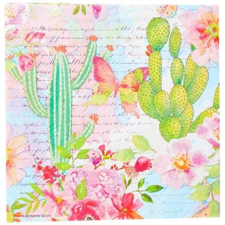SERVILLETAS- Roses Cacti