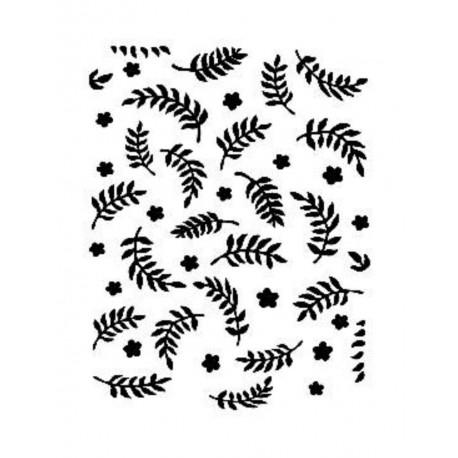 Stencil HOJAS 21x30