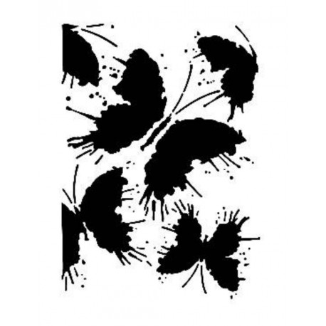 Stencil MARIPOSAS 21x30