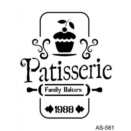 Stencil PATISSERIE 21x30