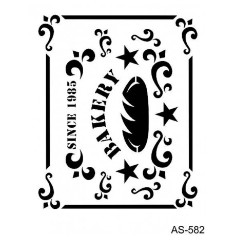 Stencil BAKERY 21x30