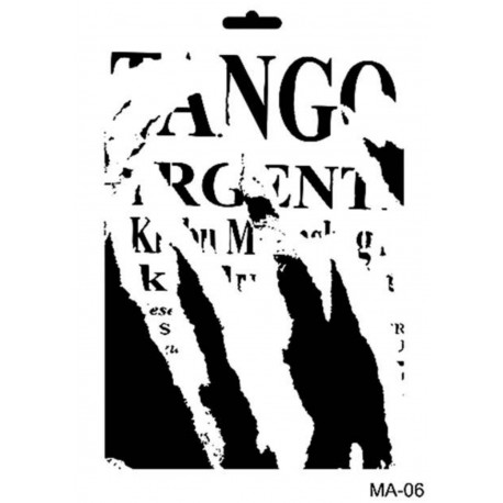 Stencil Mix Media TANGO
