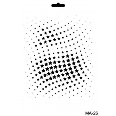Stencil Mix Media ESTRELLAS