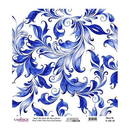 Papel de Arroz ROLLO AZUL 60x60cm CADENCE