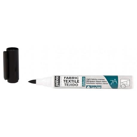 Rotulador textil A7, Negro 1mm