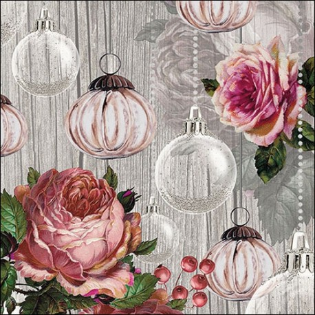 SERVILLETAS- Roses and Baubles