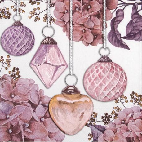SERVILLETAS- Hanging Baubles Rose