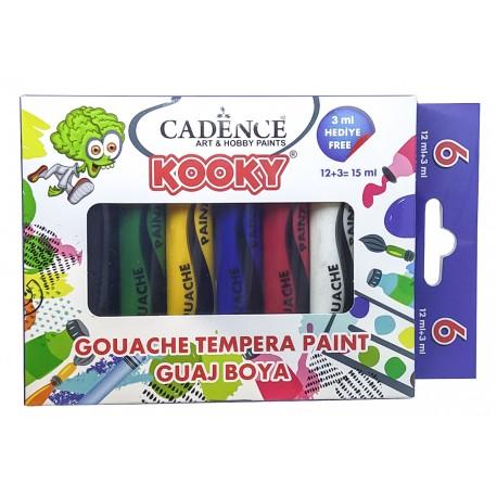 KOOKY Set Gouache 6 tubosx15ml Cadence