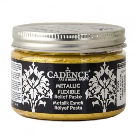 Pasta Flexible Metálica GOLD 150ml Cadence