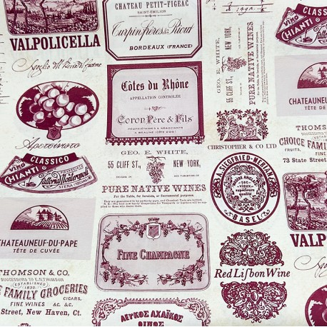 2 Papeles ROSSI Wine Labels 70x100