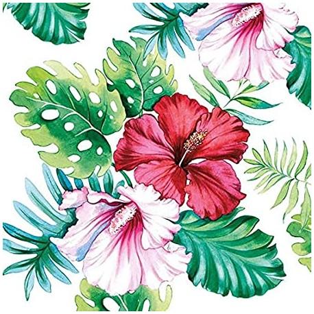 SERVILLETAS- Hibiscus Floral White