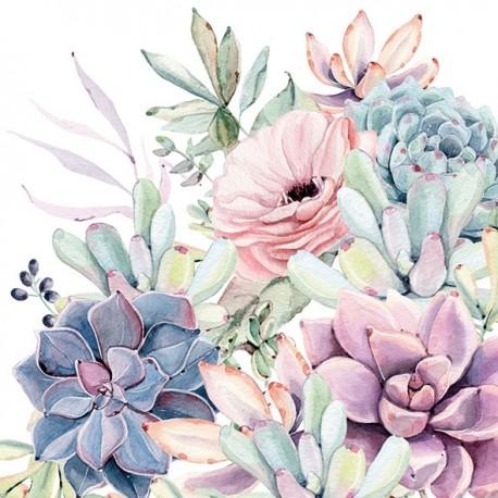 SERVILLETAS- Succulent Love