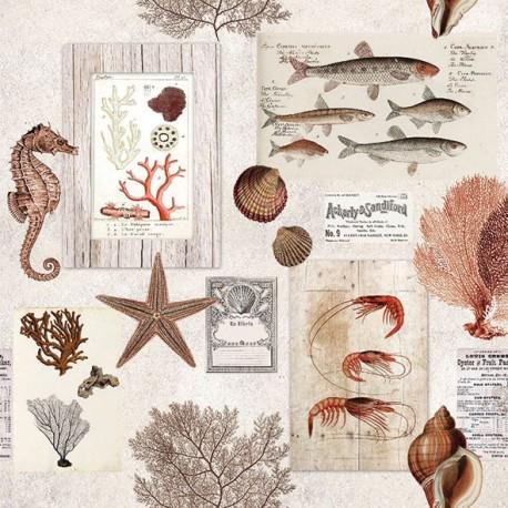 SERVILLETAS- Sepia Sea Cream